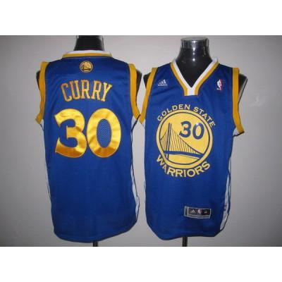 NBA Warriors 30 Stephen Curry Blue Swingman Men Jersey