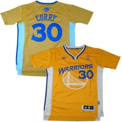 NBA Warriors 30 Stephen Curry Gold Alternate Men Jersey
