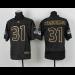 Seattle Seahawks No.31 Kam Chancellor Black Gold Number Fashion Men's Elite Football Jersey