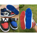 Air Jordan 1 Top 3 Red With Blue Odd Shoes