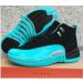 Air Jordan 12 Black Green Gray Men Women Shoes