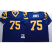 Mitchell And Ness NFL Rams 75 Deacon Jones Throwback Blue Jersey