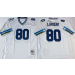 Mitchell and Ness Seahawks 80 Steve Largent White Throwback Stitched NFL Jersey