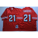 Mitchell and Ness 49ers 21 Deion Sanders Stitched Red Throwback NFL Jersey