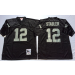 NFL Mitchell and Ness Retired Oakland Raiders 12 Kenny Stabler Black Jersey