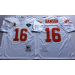 Mitchell and Ness NFL Chiefs 16 Len Dawson White Throwback Jersey