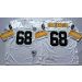 Mitchell and Ness NFL Steelers 68 L.C. Greenwood White throwback Jersey