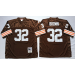 Mitchell and Ness Cleveland Browns 32 Jim Brown Throwback Brown NFL Jersey