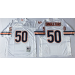 Mitchell and Ness Bears 50 Mike Singletary White Throwback NFL Jersey