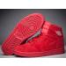 2017 Air Jordan 1 Retro High BG All Red October Suede Gym Red Shoes