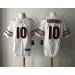 Nike Chicago Bears 10  Mitchell Trubisky 2017 NFL Draft White Elite Jersey