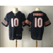 Nike Chicago Bears 10 Mitchell Trubisky 2017 NFL Draft Navy Blue Elite Jersey