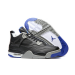 Air Jordan 4 Low Black Blue Shoes