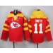 Nike Chiefs 11 Alex Smith Red Player Pullover NFL Sweatshirt Hoodie