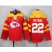 Nike Chiefs 22 Marcus Peters Red Player Pullover NFL Sweatshirt Hoodie
