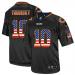 Nike Bears 10 Mitchell Trubisky Black USA Flag Fashion Elite Men Jersey