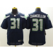 Nike NFL Seahawks 31 Kam Chancellor Steel Blue Elite Men Jersey