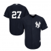 MLB Yankees 27 Giancarlo Stanton Navy Blue Cool Base Men Jersey
