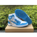 Air Jordan 1 Off White Blue Men Women Shoes