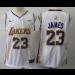 NBA Lakers 23 LeBron James White Swingman Nike Men Jersey