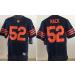 Nike Bears 52 Khalil Mack Blue With Orange Number Elite Men Jersey