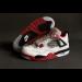 Air Jordan 4 White Red Black Shoes