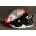 Air Jordan 4 Black White Red Shoes