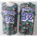 NBA Lakers 32 Magic Johnson Camo Hardwood Classics Men Jersey