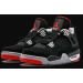 "Air Jordan 4 ""Bred"" Black Gray Red Shoes"
