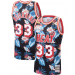 NBA Heat 33 Alonzo Mourning Black Fashion Hardwood Classics Men Jersey