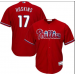 MLB Phillies 17 Rhys Hoskins Red Cool Base Men Jersey