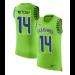 Nike Seahawks 14 D.K. Metcalf Green Color Rush Name & Number Tank Top