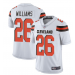 Nike Browns 26 Greedy Williams White Vapor Untouchable Limited Men Jersey