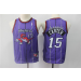 Toronto Raptors 15 Vince Carter Purple Youth Swingman Jersey