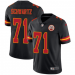Nike Chiefs 71 Mitchell Schwartz Black Vapor Untouchable Limited Men Jersey