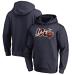 Chicago Bears Blank 100th Navy Hoodie