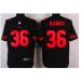 Nike 49ers 36 Merton Hanks Black Retired Player Elite Men Jersey