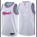 NBA Heat City Edition White Blank Men Jersey