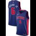 NBA Pistons 6 Bruce Brown Jr. Blue 2018 NBA Draft Nike Men Jersey