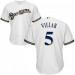 MLB Brewers 5 Jonathan Villar White Men Jersey